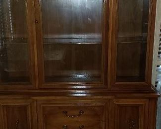 China Cabinet 6feet height 51 in. length 19 width =$120.00    For Pick up Appointment  Please call or text 760-662-7662