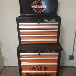 Craftsman Harley Davidson Rolling Tool Cart in very good condition