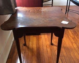 "$335~Antique Baker Porringer Top Tea Table  26"" x 26"" wide 30"" tall"