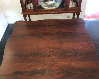 $200~Top of empire table  Flame mahogany