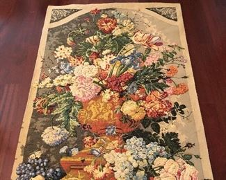 """$595~ Modern French Tapestry  Wall Hanging  Ready to hang.  Measures 74"""" x 52"""""""