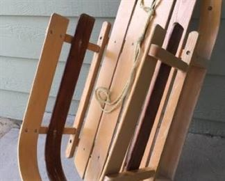 L.L Bean Wooden Pull Sled https://ctbids.com/#!/description/share/405172