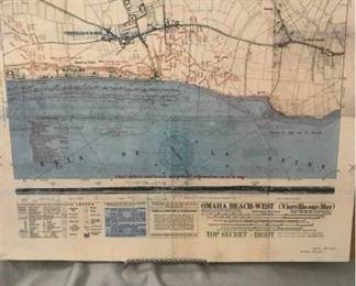 Military Map Reproduction Omaha Beach West https://ctbids.com/#!/description/share/405092