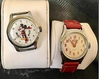Pair of Mickey Mouse watches https://ctbids.com/#!/description/share/405080