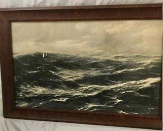 Vintage Sea Picture - ( Photograph?) https://ctbids.com/#!/description/share/405086