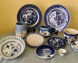 Vintage Blue Decor - semi china, jasper ware and more https://ctbids.com/#!/description/share/405184