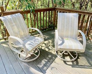 1. Set of Four Mesh Swivel Chairs $ 400.00