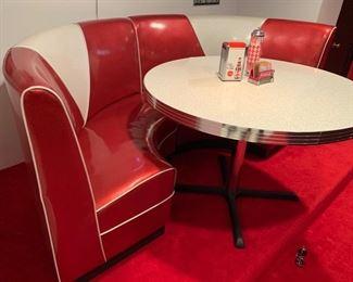 16. 2 Pc. Retro Semi Circle Banquette (92'' x 44'' x 38'') $ 1,200.00