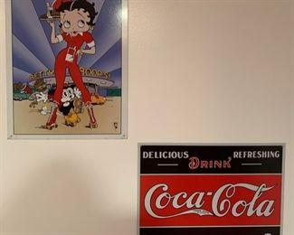 32. Set of 4 Metal Coca-Cola Art  $ 12.00