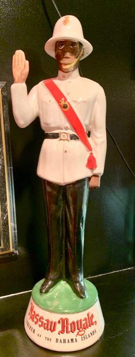 30. Nassau Royale Vintage Bahamas Policeman Decanter (18'') $ 180.00