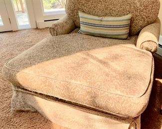 51. Slipcovered Double Chaise Lounge AS IS (50'' x 64'' x 36'') $ 200.00