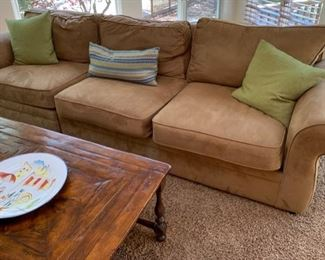 50. Pottery Barn 3 Pc. Sectional Ultra Suede (115'' x 39'' x 36'') $ 1,200.00