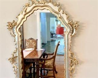 67. Carved Mirror w/ Decorative Gilt (30'' x 48'') $ 160.00
