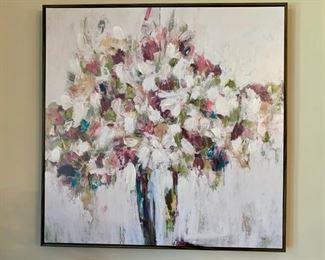 72. Floral Canvas Artwork (31'' x 31'') $ 80.00