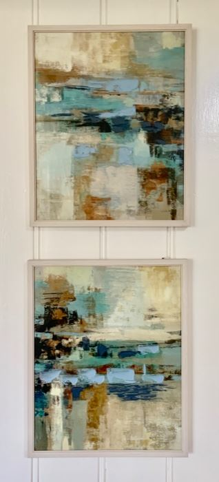81. Pair of Abstract Art (17'' x 21'') $ 50.00