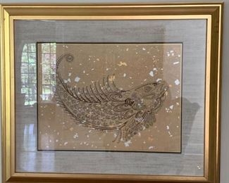 """86. Pair of Signed Lithographs """"Amethyst & Sapphire"""" by Jardine (38'' x 32'') $ 600.00"""
