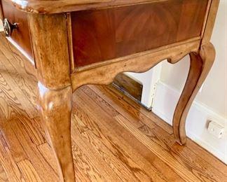 97. Two Tone Glass Top Desk w/ Cabriole Legs (60'' x 29'' x 32'') $ 360.00