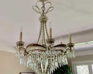 87. 6 Candle Crystal Chandelier (40'' x 24'') $1,800.00