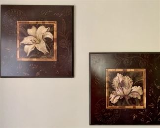159. Pair of Painted Florals (20'' x 20'') $ 50.00