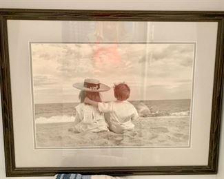 155. Black & White Photo of Children at Beach (28'' x 22'') $ 50.00