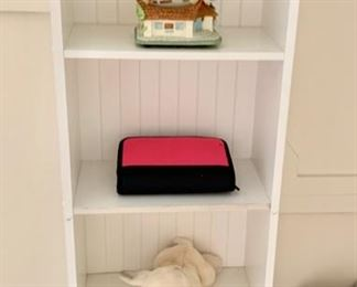 172. Small White Bookcase (16'' x 9'' x 44'') $ 40.00