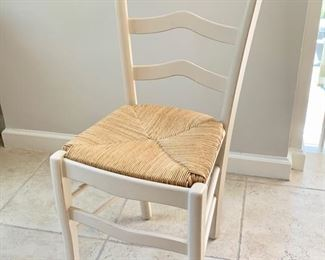 42. Set of 6 Side Chairs w/ Rush Seat (17'' x 16'' x 38'') $ 150.00