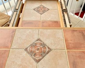 41. Tile Top Dining Table w/ 1 (18'') Leaf (60'' x 42'' x 30'') $ 450.00