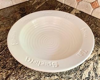 43. White Pasta Bowl (17'') $ 20.00