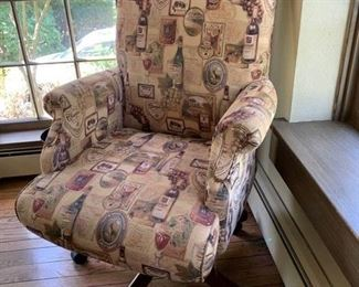 110. Upholstered Executive Chair (26'' x 28'' x 43'') $ 320.00