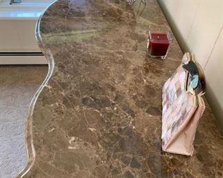 126. Century Marble Top Serpentine Chest (61'' x 22'' x 47'') $ 1,100.00