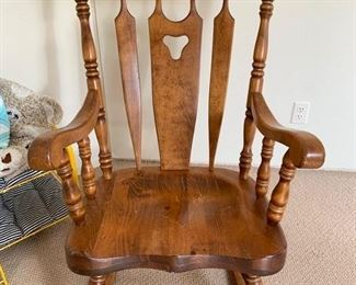 177. S. Bent & Brothers, Mass Rocking Chair (26'' x 32'' x 44'') $ 140.00
