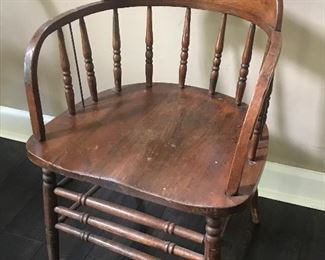 one of a pair of barrell chairs