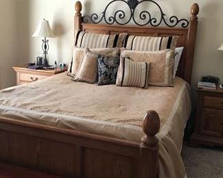 """queen size  Oak """"Wynwood"""" bed -SOLD"""