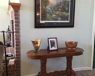 Oak entry/sofa table-SOLD