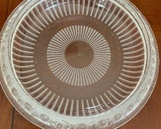 """Lalique Marguerite bowl 13"""""""