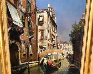 Venetian oil painting by Alfio Stazio