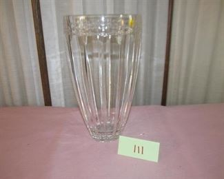 111 Leaded crystal vase. Was $20; Now $8