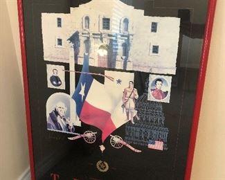 Framed Texas Poster