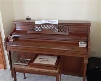 $200 Kimball upright piano With seat