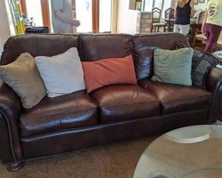 2010 (2) Thomasville Leather Couches EXCELLENT CONDITION $675 each Pillows are not included