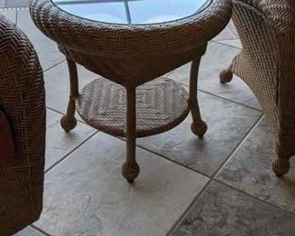 2002 Outdoor patio furniture: there are 4  Swivel Chairs, 2 End Table with glass tops, Coffee table with glass top,  and Couch, plus the lamp , You can buy it all or it can be pieced out . Start Price for all pieces are $1195.