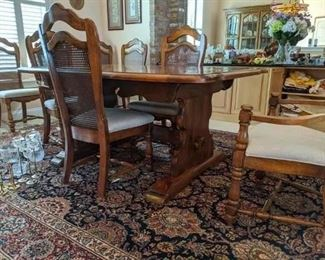 Dining Room table Chairs, Hutch, and Buffet all pieces for $400