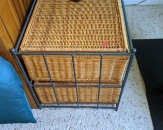 Wicker two drawer chest $ 25.00