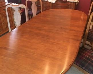 Cherry Dining Table and Four Chairs