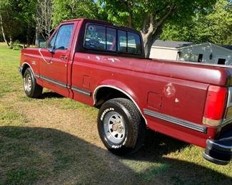 1990 Ford F150 Lariet pickup with 188,000 miles w/almost new tires, 302 engine. It has been detailed and looks great.