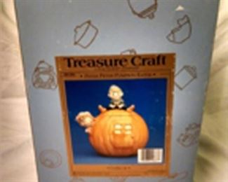 Peter Pumpkin Eater cookie jar new in box.   $35