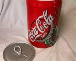 Coke cookie jar.        $35