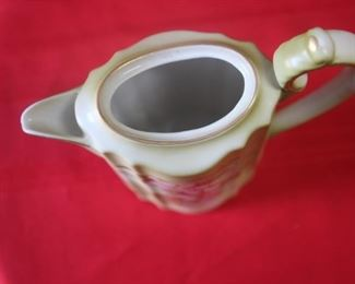 "50% OFF,  now $7.50.                                                                      $15. Nippon coffee/hot chocolate pot.  9"" tall, hand painted. No chips or cracks."