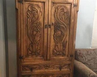 Carved Wardrobe Cabinet