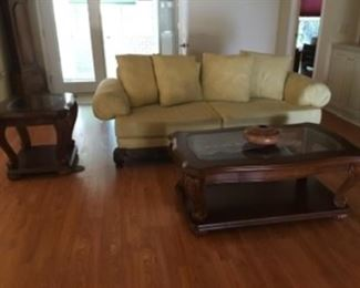 $250- coffee table & 2 sides tables - sofa $150